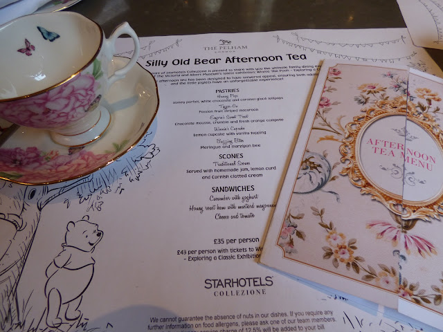 Silly Old Bear Winnie The Pooh afternoon tea at The Gore Hotel and The Pelham Hotel, South Kensington, London