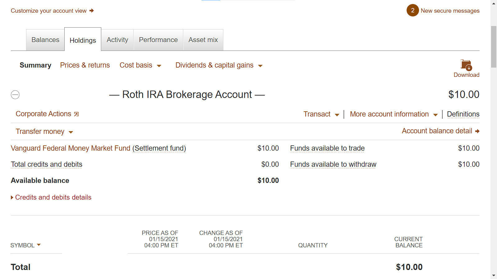 Image of Divi Monopoly's Roth IRA as of January 2021 | Dividendraptor.com