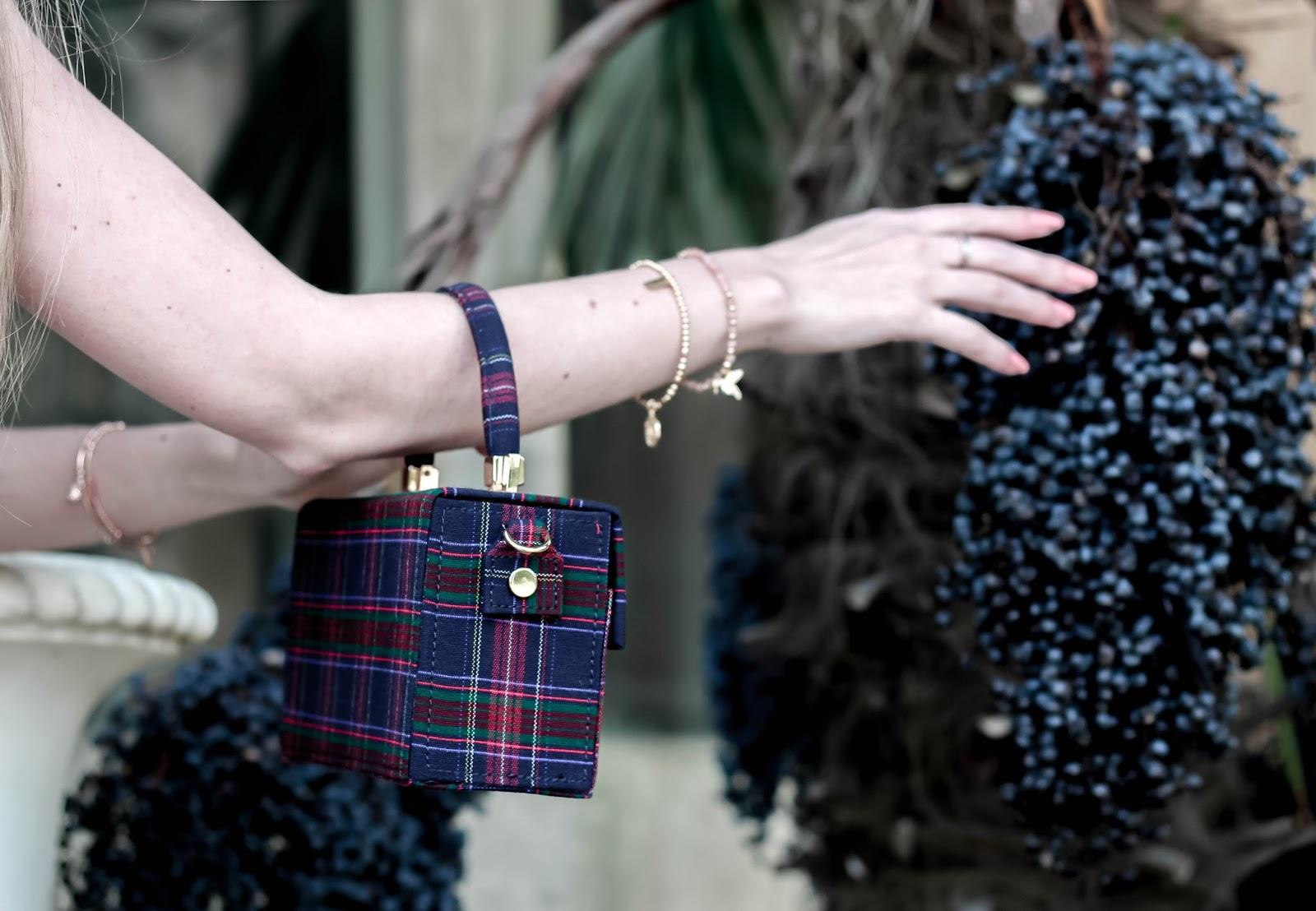 Zara Plaid Tartan Minaudière Bag
