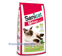 Logo #SANIHalloween- Sanicat: vinci gratis lettiera Sanicat 7Days