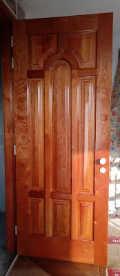 Puerta de madera para exteriores en San Borja