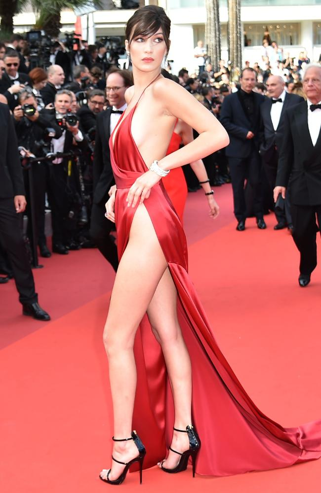 Bella Hadid at the 69th Annual Cannes Film Festival red carpet held in France