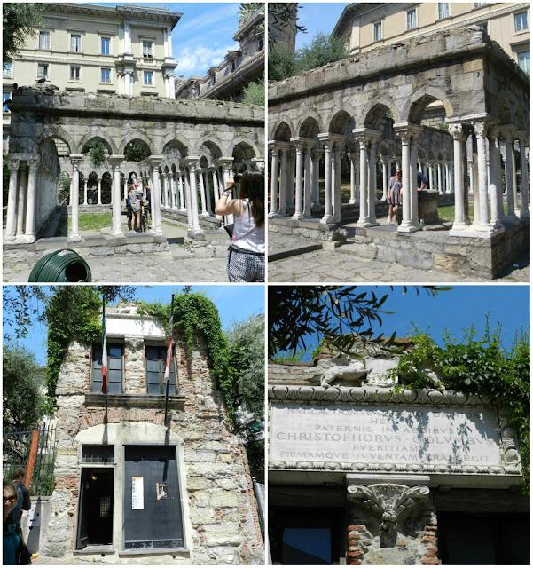 Atrações de Gênova - Casa de Cristóvão Colombo e Chiostro di Sant´Andrea