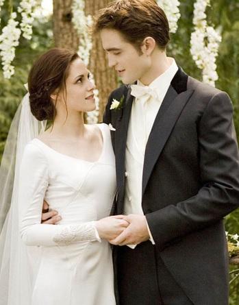 Foto de matrimonio de Kristen Stewart y Robert Pattinson en la ficción