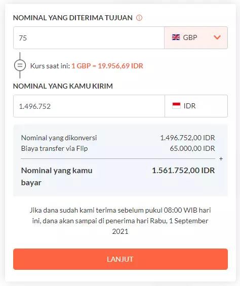 Cara transfer uang ke luar negeri dengan menggunakan layanan Flip Globe