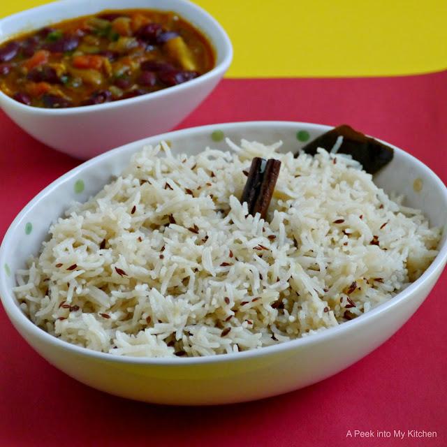 Jeera Rice (Pulao) / Cumin Rice ~ Day 117