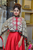 Anya South Actress model in Red Anarkali Dress at Splurge   Divalicious curtain raiser ~ Exclusive Celebrities Galleries 007.JPG