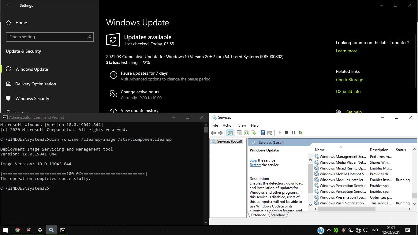 solusi gagal update windows 10
