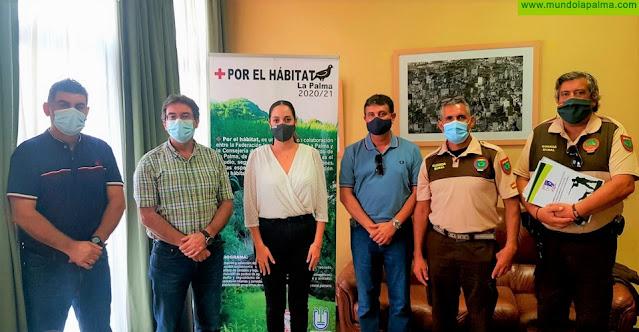 El Cabildo de La Palma colabora con la Federación Insular de Caza en el proyecto 'Por el hábitat'