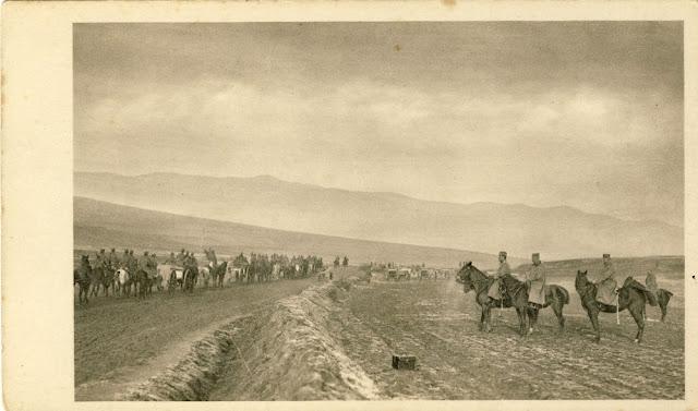 Serbian army near Bitola - First Balkan War Battle of Bitola (Battle of Monastir) - 16 to 19 November 1912