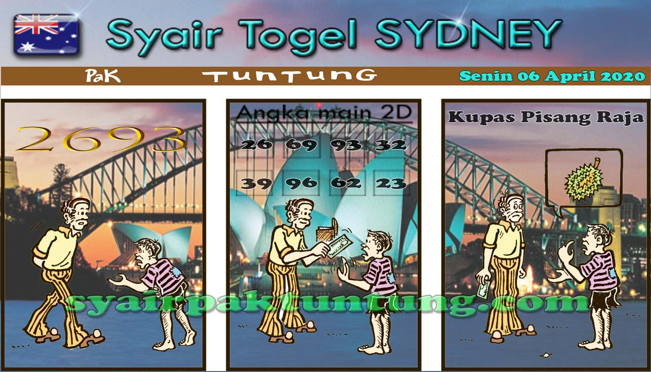 Syair Sydney Selasa 07 April 2020 - Syair Sydney Pak Tuntung