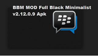BBM MOD Full Black Minimalist v2.12.0.9 Apk