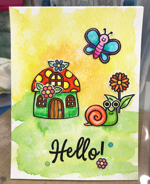 Sunny Studio Stamps: Sunny Saturday Summertime Customer Card Share by Cathy Covin