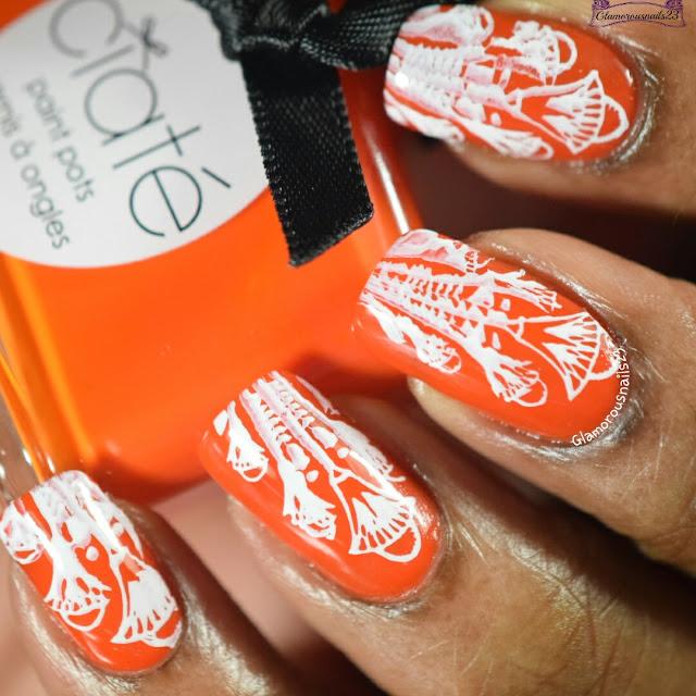 Mandarin Orange & White