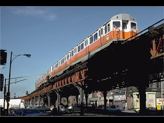 Boston's Orange Line ELS have been put underground, and so are still not at street level