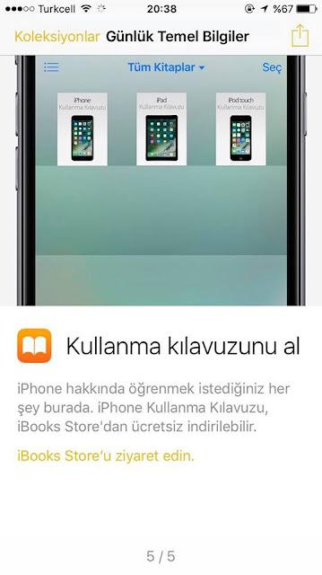 iPhone Kullanma Kılavuzunu indirebilirsiniz