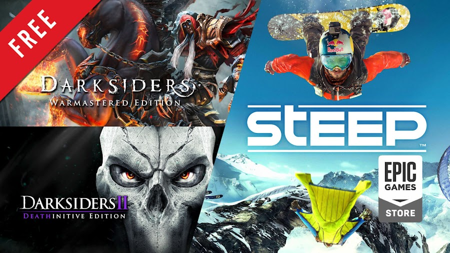 darksiders warmastered darksiders 2 deathinitive edition steep free pc game epic games store vigil games gunfire games kaiko thq hack and slash action-adventure action role-playing ubisoft extreme sports
