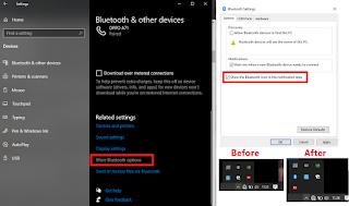 Cara menampilkan icon bluetooth di taskbar Windows 10