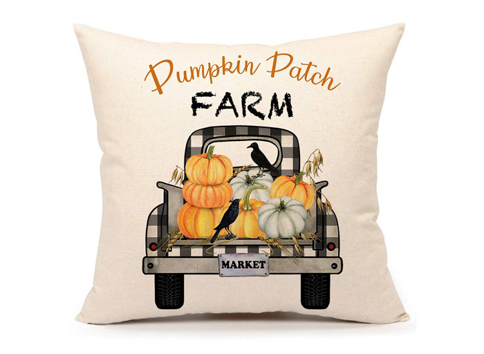 Pumpkin Truck Pillow