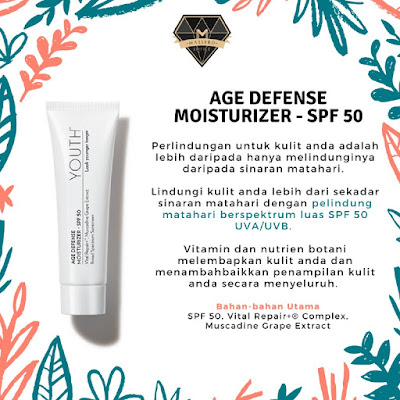 YOUTH Age Defense Moisturizer - SPF 50: Keistimewaan dan Fungsi