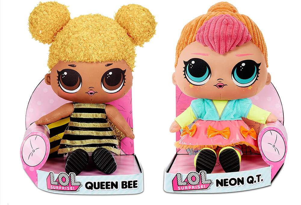 Мягкие куклы L.O.L. Surprise Queen Bee и Neon Q.T. Soft Plush Doll