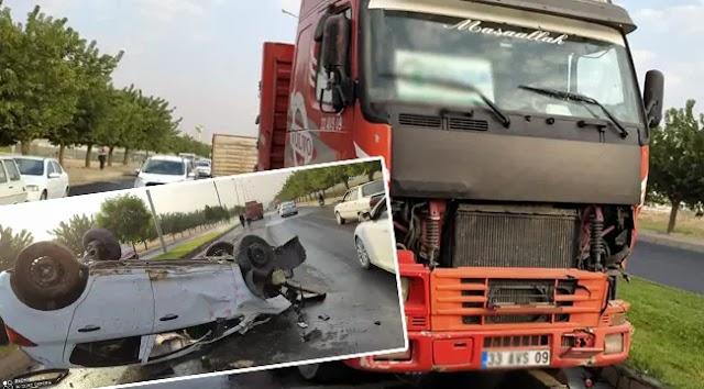 Urfa'da otomobil ve kamyon çarpıştı