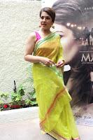Bollywood Actress Raveena Tandon in Transparent Green Saree at Trailer Launch Of Film Maatr  0008.JPG