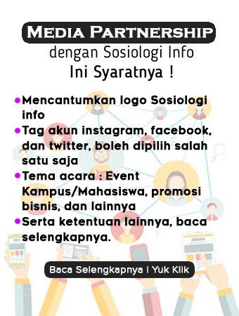 Media Partnership Bersama Sosiologi Info, Ini Syaratnya !