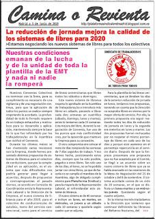 COMUNICADO DEL DÍA 5 DE JUNIO DE 2019