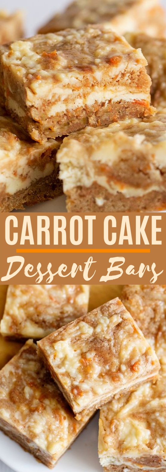Carrot Cake Bars #desserts #bars #baking #recipes #cake