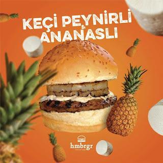 hmbrgr menü fiyat listesi kampanya keçi peynirli ananaslı burger  siparişi