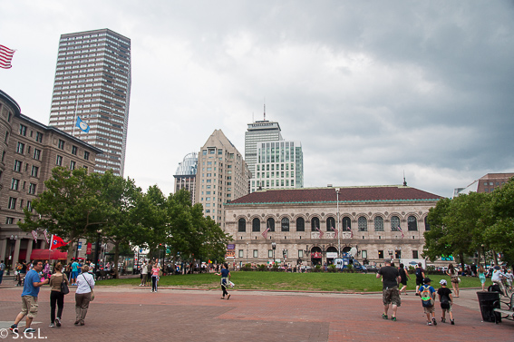 Torre Prudential y biblioteca-Boston