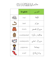 Arabic clothing vocabulary