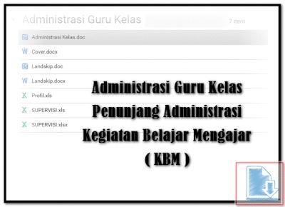 Administrasi Guru Kelas Penunjang Administrasi Kegiatan Belajar Mengajar ( KBM )