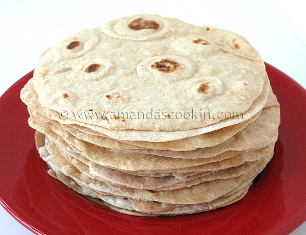 Low Fat Homemade Flour Tortillas Amanda S Cookin