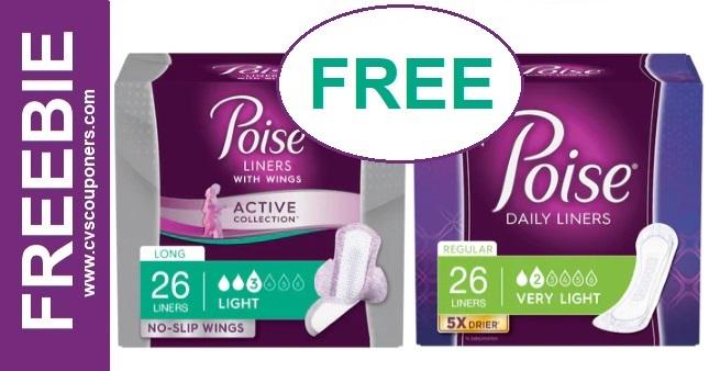 FREE Poise Pads CVS Coupon Deal 7/4-7/10