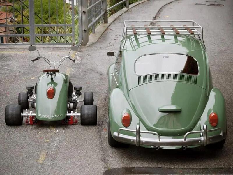 Volkswagen Beetle Fender Redesigned Into Retro Style Kart