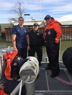 FL 16-07 member Bob Daraio with Station Manasquan Crew from the 47'