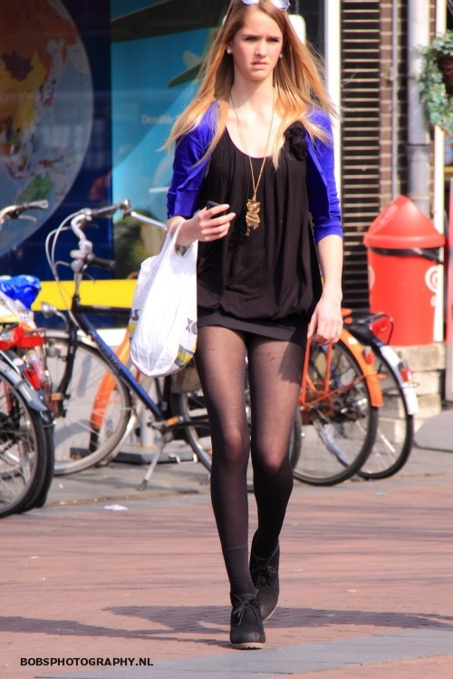 Mini dress pantyhose hot