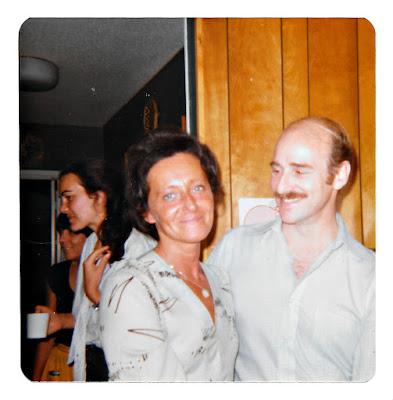 Tatiana Vasilev aka Tanya Sarsfield, and Dennis Skellenger at 19 Ramona Avenue in Piedmont in August 1980.