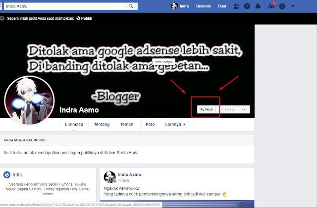 Membuat Facebook Tidak Bisa di add Friend