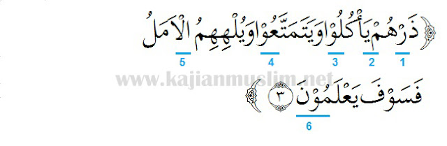 Hukum Tajwid Surat Al-Hijr Ayat 3