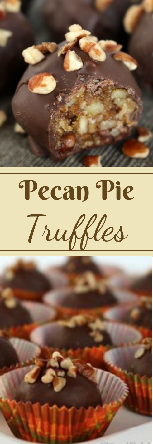 Pecan Pie Truffles  #desserts #cakes #pie #pumpkin #easy
