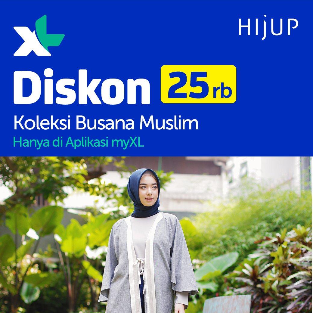 XL - Promo Diskon 25 Ribu HijUp di Aplikasi myXL