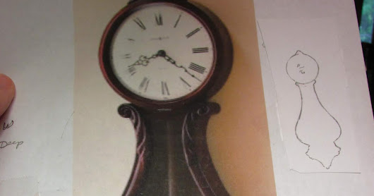 1 INCH SCALE BANJO CLOCK FROM CARD STOCK - How to make a dollhouse banjo clock from card stock and mat board