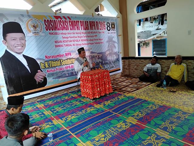 Tifatul Sembiring Gelar Sosialisasi 4 Pilar di Kampung Aur