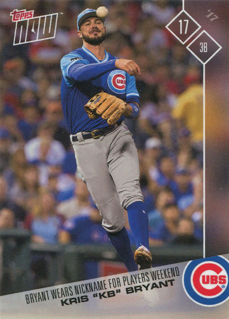 e4f20ee5770 Once a Cub  2017 Topps Now Player s Weekend Cubs Team Set