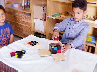 Montessori Trinomial Cube Activity