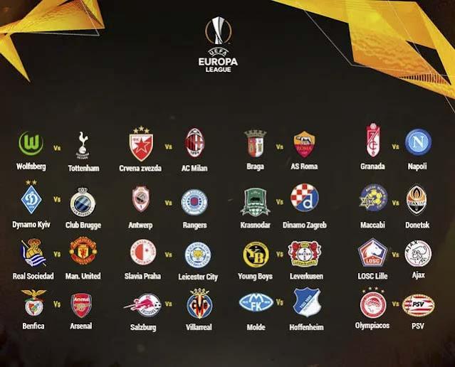 Keputusan Undian Pusingan 32 Europa League 2020/2021.