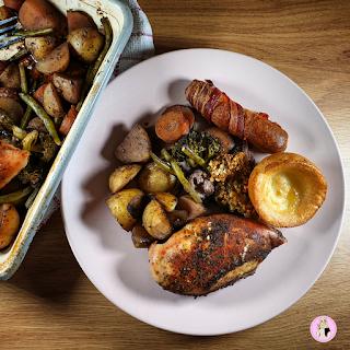 One Pan Roast Dinner Traybake | Healthy Recipe